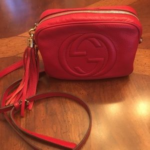 Authentic Gucci disco in red